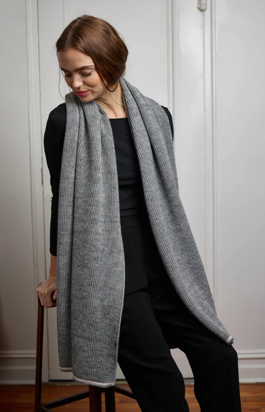 Paris West Ashby Wrap Gray/Ivory