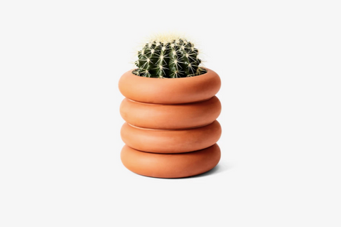 Terracotta Stacking Planter Tall: 8 x 8 x 8 in DESIGNED BY CHEN CHEN AND KAI WILLIAMS
