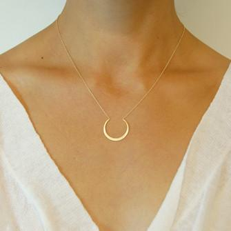 Carla Caruso Fertile Moon Necklace 14K 17""
