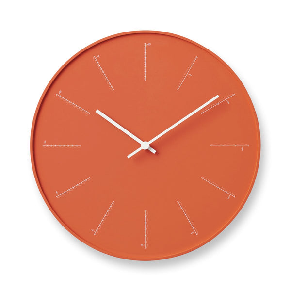 Lemnos Divide Clock- Orange