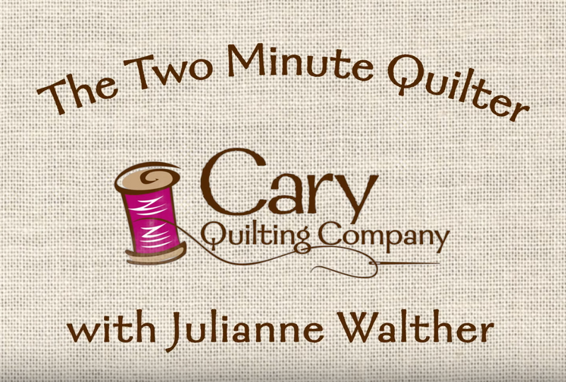 Two Minute Quilter: Joining Binding Ends