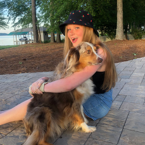 Avery with dog