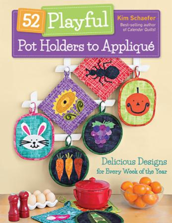 52 Playful Potholders to Applique Quilt Book - 11336