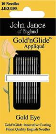 Gold-n-Glide Applique Needles, Size 11