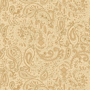 "108"" Spiced Quilt Backing - Paisley in Beige - 0891-44"