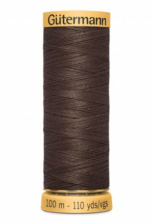 Gutermann Cotton Thread, 100m Dark Brown, 3110