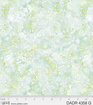 "108"" Day Dreams Quilt Backing Fabric - Green - DADR 04358 G"
