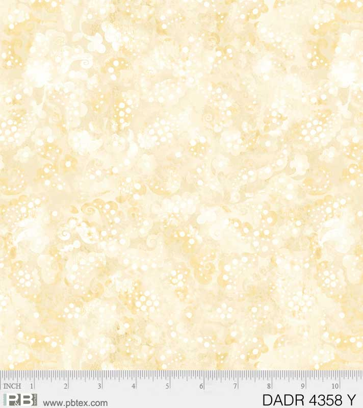 "108"" Day Dreams Quilt Backing Fabric - Yellow - DADR 04358 Y"
