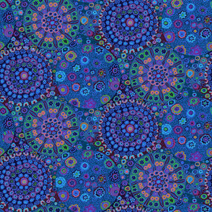"108"" Kaffe Fassett February 2021 Quilt Backing Fabric - Millefiore Wide Back in Blue - QBGP006.BLUE"