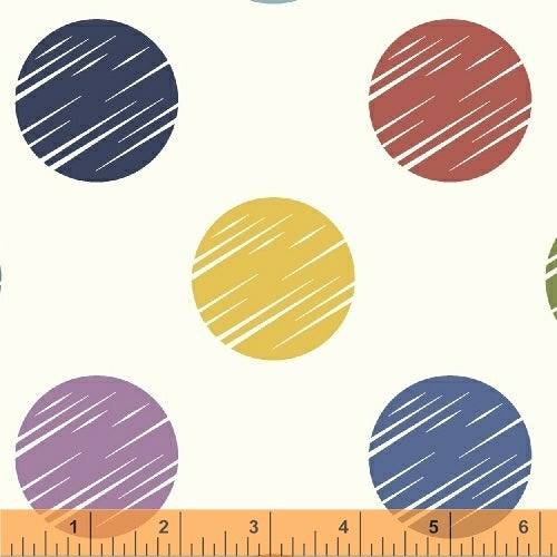 "108"" Modern Quilt Backing Fabric - Dot in Multi - 50661-X"