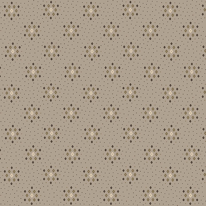 "108"" Parlor Pretties Quilt Backing Fabric - Diamond Geometric in Gray - 9503-90"