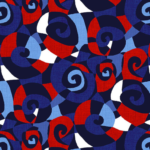 "108"" Sonia Quilt Backing Fabric - Navy Blue/Red - 5018-78"