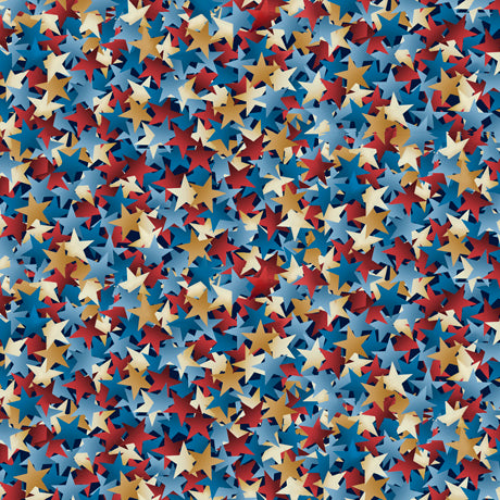 "108"" Star Struck Quilt Backing Fabric - Chambray Blue - 1899-27528-W"