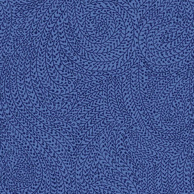 "108"" Vine Maze Quilt Backing Fabric - Blue - WBX6774-BLUE-D"