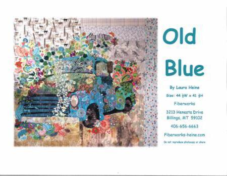 Old Blue Collage Quilt Pattern (Pickup Truck) by Laura Heine -  LHFW OB30