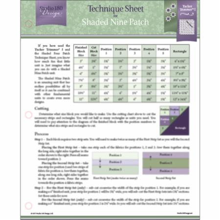 Technique Sheet - Shaded Nine Patch - UDTEC16