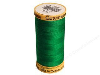 Gutermann Cotton Thread, 250m, Green, 7810