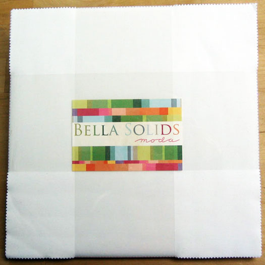 Moda Bella Solids Layer Cake in White - 42 10