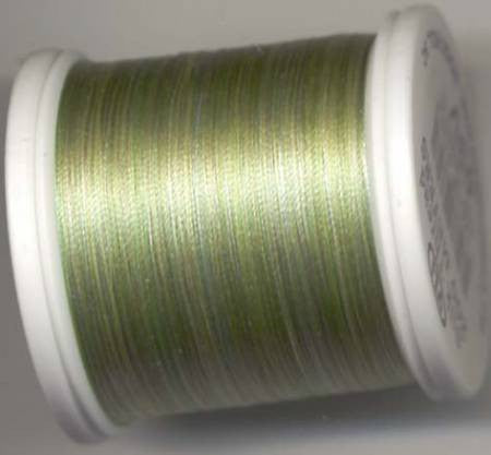 YLI Variegated Silk Thread #100, Color 202 YLI#5, 200m - Variegated Green