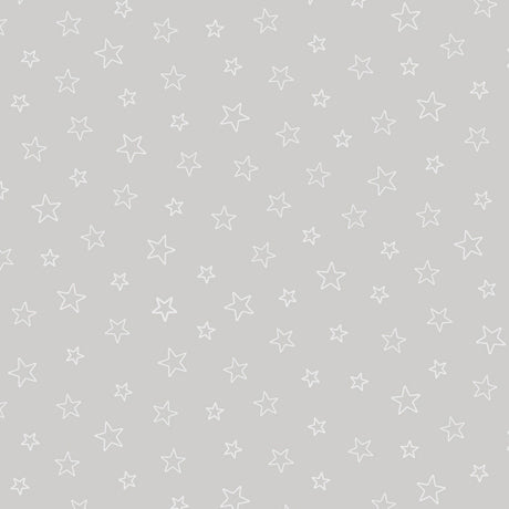 Quilting Illusions - Stars in Gray - 1649-23540-K