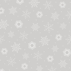 Quilting Illusions - Snowflakes in Gray - 1649-24600-K