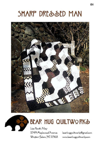 Sharp Dressed Man Quilt Pattern by Bear Hug Quiltworks 131