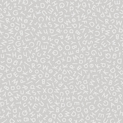 Quilting Illusions - Alphabets in Gray - 1649-26760-K