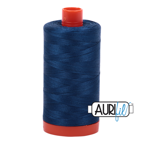 Aurifil 50 wt cotton thread, 1300m, Medium Delft Blue (2783)