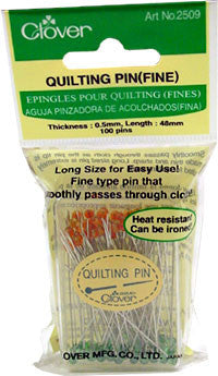 "100 Quilting Pins, Fine, 48 mm long (1.6"" long)"