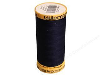 Gutermann Cotton Thread, 250m, Blue Black, 6210