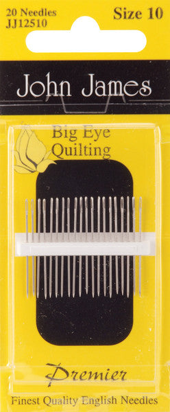 Big Eye Quilting Needles, size 10