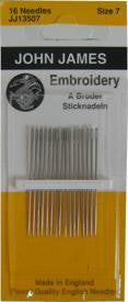 Embroidery Hand Needles, size 7