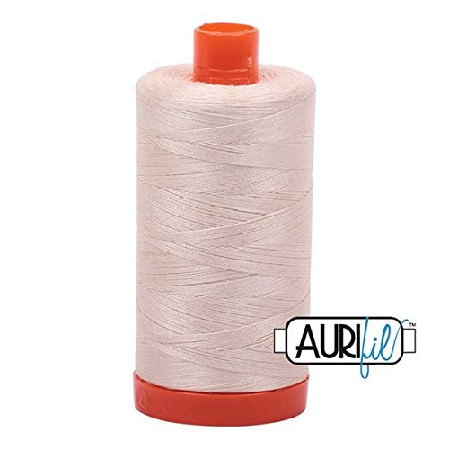 Aurifil 50 wt cotton thread, 1300m, Light Sand (2000)