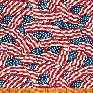 "108"" Quilt Backings - American Flags - 42465-X"