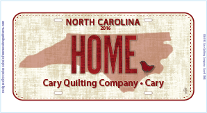 Row by Row Fabric Plates® License Plates