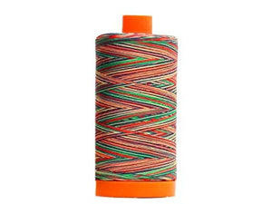 Aurifil 50 wt cotton thread, 1300m, Variegated Marrakesh (3817)
