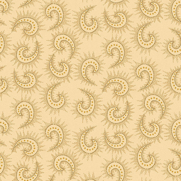 "Spiced Paisley in Cream/Tan - 108"" Wide Backing - 6368-44"