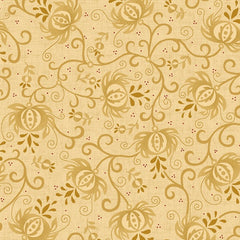 "Spiced Pomegranate in Tan/Cream - 108"" Wide Backing - 6631-44"