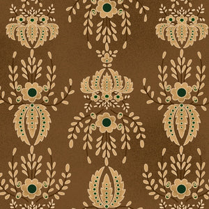 Farmstead Harvest - Damask in Brown - 6943-33