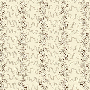 Nicholson Street - Vines in Cream/Brown - A-8934-N