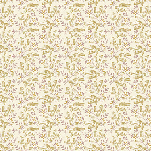 Nicholson Street - Ferns in Cream/Tan - A-8937-L