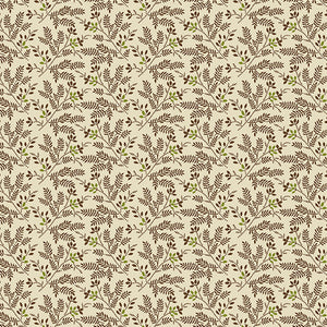 Nicholson Street - Ferns in Cream/Brown - A-8937-N
