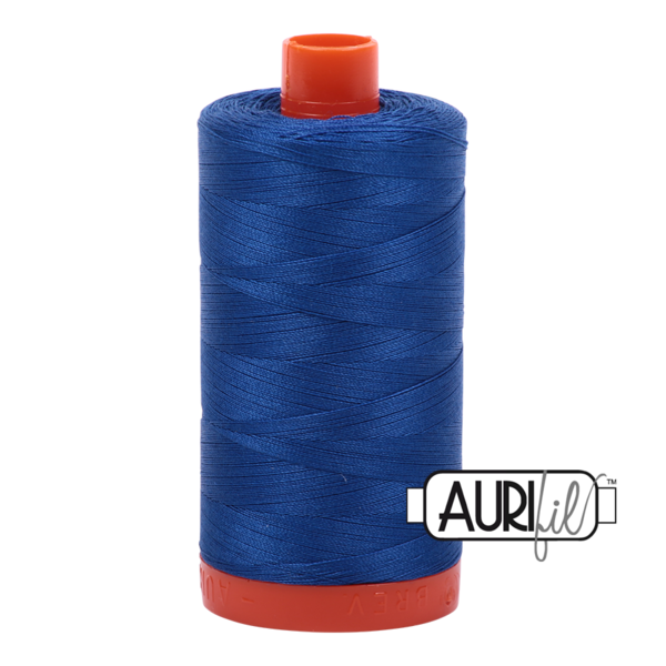 Aurifil 50 wt Cotton Thread, 1300m, Medium Blue (2735)