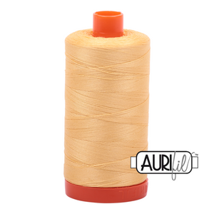 Aurifil 50 wt cotton thread, 1300m, Medium Butter (2130)