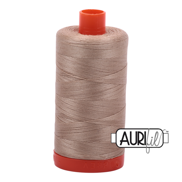 Aurifil 50 wt cotton thread, 1300m, Sand (2326)