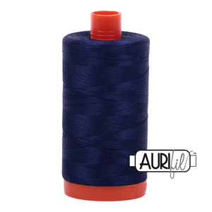 Aurifil 50 wt cotton thread, 1300m, Midnight (2745)