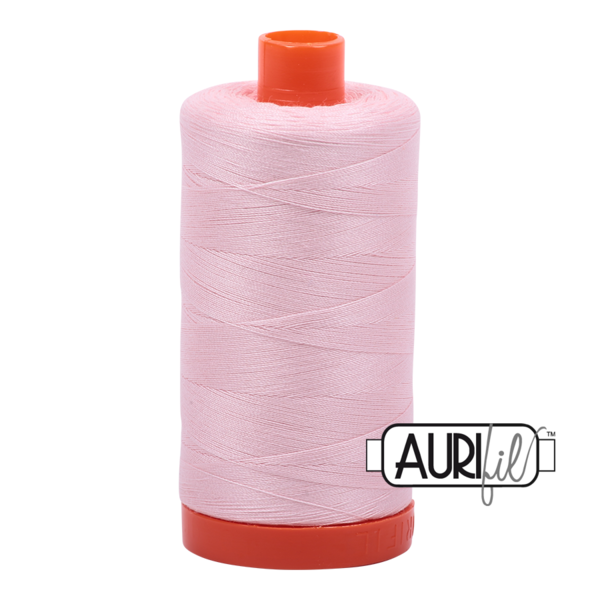 Aurifil 50 wt cotton thread, 1300m, Pale Pink (2410)