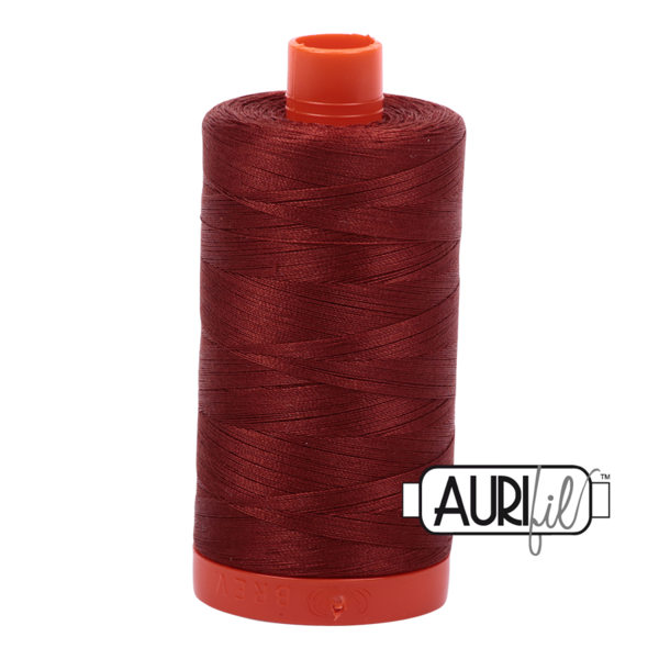 Aurifil 50 wt cotton thread, 1300m, Rust (2355)