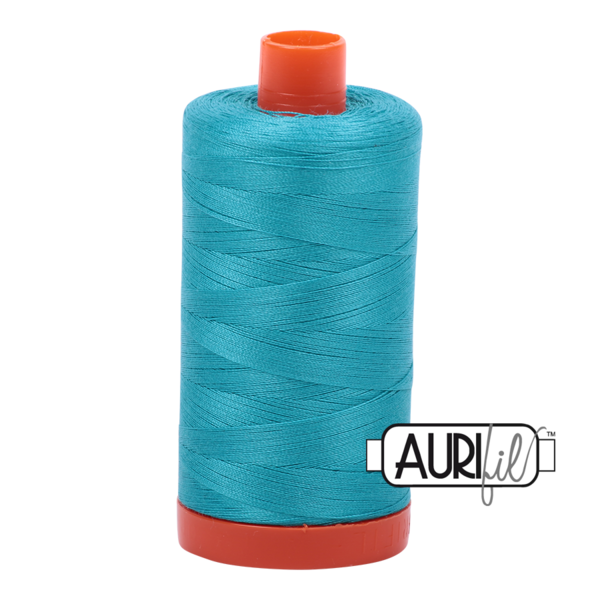 Aurifil 50 wt cotton thread, 1300m, Turquoise (2810)