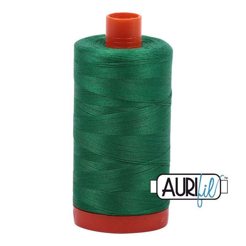 Aurifil 50 wt Cotton Thread, 1300m, Green (2870)